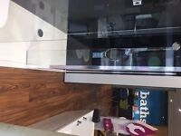 Ex demo Bathstore shower enclosure. Tray 40 x 90cm. Silver trim. Walk-in, spacious, £380