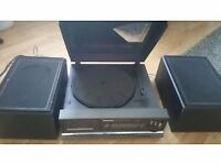 Panasonic record player with speakers