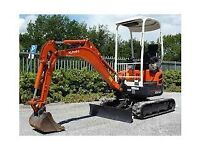 MINI DIGGER HIRE WITH DRIVER £160