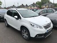PEUGEOT 2008 1.2 ALLURE 5dr ** ONLY 22000 MILES ** (white) 2015