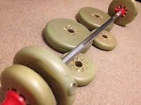 Weights bar & barbells £15