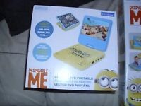 despicable me minions portable dvd player new boxed