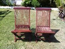 2 Solid Wood Outdoor Lounge Chairs Matraville Eastern Suburbs Preview