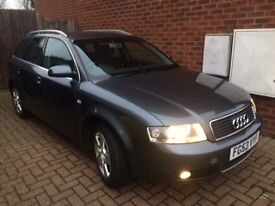 AUDI A4 AVANT 1.9 TDI SE 5DR ESTATE CVT 2003 GREY METALLIC