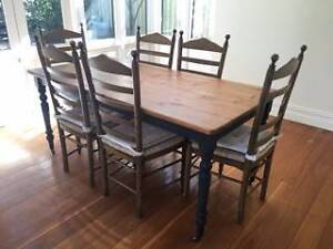 Timber Dining Table and Chairs Stanmore Marrickville Area Preview