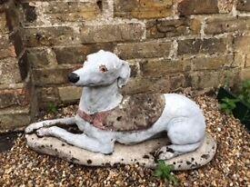 Stone garden ornament. Dog ornament. £5 ONO