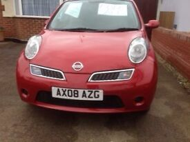 2008- 5DOOR NISSAN MICRA+ - PETROL - 1200cc - RED - EXCELLENT CLEAN CONDITION - 2 OWNERS