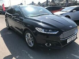 FORD MONDEO 2.0 TDCi TITANIUM X PACK 5dr (180) * Leather & Sat Nav * (black) 2015