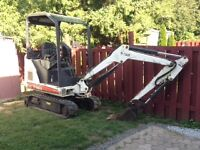 BOBCAT SKIDSTEER AND MINI-EXCAVATOR FOR HIRE  WITH EXPERIENCE OP