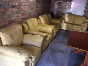 Leather Lounge - Near New condition Hunters Hill Hunters Hill Area Preview