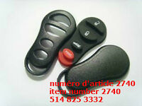 DODGE REMOTE KEYLESS ENTRY FOB KEY CASE SHELL 4 BUTTONS