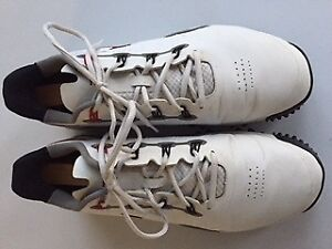 Used Nike Tiger Woods Mens Golf Shoes Size 12 White/Black/Red