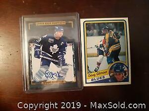 2 Doug Gilmour Auto and rookie Hockey Cards