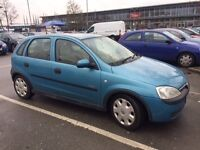 2003 Vauxhall Corsa, Hatchback, 1.2 petrol, elegance, 12month Mot.