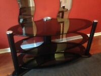 Television Table and Matching Side Tables