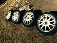 4 New Tires with Rims for Sale