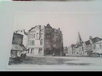 St Georges Hall Rotherham 1928 Etching by Thomas Liddell