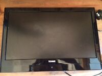 """19"""" Flat Screen Remote control tv with freeview & flat screen wall mount bracket"""
