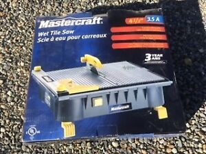 "Mastercraft 4 1/2 "" Wet Tile Saw"