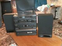 CD Mini System with record turntable
