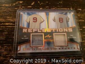 Ted Williams/Carl Yastrzemski Low Numbered Baseball Dual Jersey Card 15 of 20
