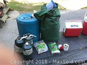 Camping Gear And Fishing Rods A