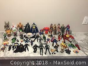 57 Pieces Of Action Figures, Keychains Etc