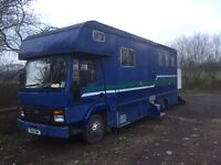 FORD IVECO 0813 HORSEBOX 7.5 TONNE