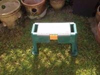 Plastic tool storage stool for diy /garden