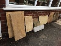 Various flags and garden pavings - free