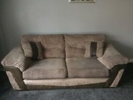 2 and 3 seater sofa, cushions included. £170 ono.