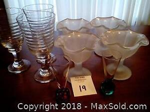 Assorted glassware Category A Pickup