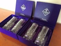 Four new Edinburgh Crystal Highball Glasses