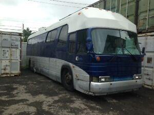 autobus bleu bird fini campeur