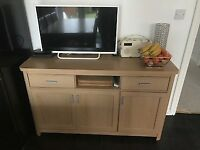 Oak Effect Sideboard 2 Drawers, 2 Cupboards