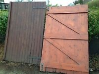 Wooden garage/shed doors