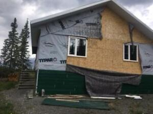 Unfinished house to be removed from property.