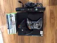250 mb Xbox 360 with 2 controllers, kinect; games (COD 1 & 2; Need for speed rivals)