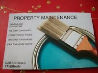 PAINTER AND DECORATER GJB SERVICES TAVERHAM NORWICH END OF TENANCY RESIDENTIAL OR LANDLORDS .