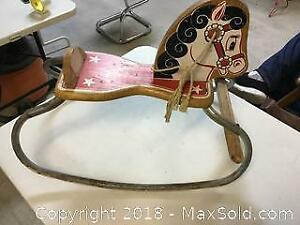 Beautiful Vintage Child Ride On Rocking Horse