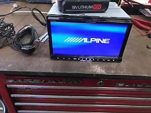 Alpine stereo system and navigation station with subs