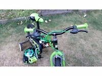 "Ben 10 14"" Bicycle with stabilisers (Only used a few times) + Ben 10 Helmet included"