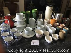 Assorted Coffee And Tea Cups And Mugs