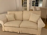 Cream Three-seater Sofa and Arm Chair for Sale