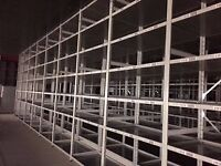 JOBLOT 100 bays of LINK industrial shelving 3m high AS NEW ( storage , pallet racking )