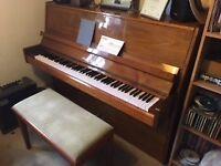 Hans Schiller Modern Upright Piano, 88 keys, 3 pedals + Duet piano stool
