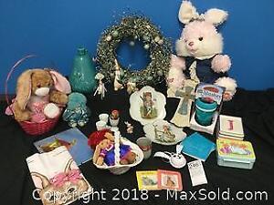 Easter Bunny, Wreath, Figurines