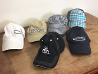 COLLECTION OF GOLF CAPS IN NEW OR MINT CONDITION - £45 - CASH ON COLLECTION ONLY