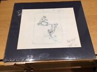 Scooby Doo - Original Animator's Layout Pencil Drawing (1970's) with Certificate