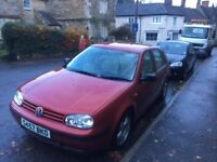 VW Golf 5 doors, 99 reg for spares and parts, or could be good as a cheap run around.